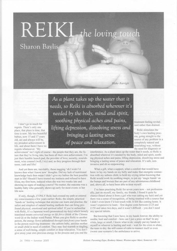 Mother Magazine article for mothers, babies, pregnancy summer 05 a